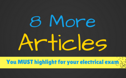 8 more articles you must highlight for your electrical exam