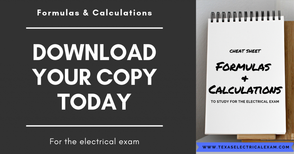 Must have formulas for your electrical exam