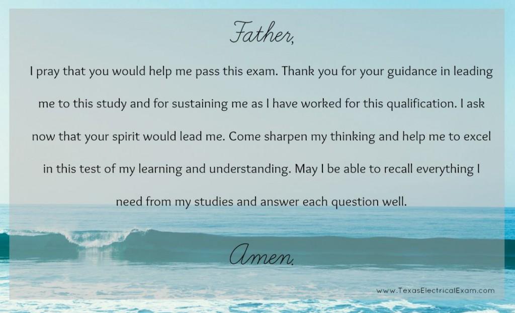 test taker prayer