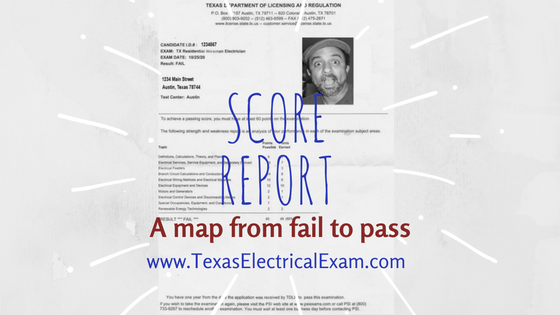 "It's important to hang on to these ""fail"" score reports that PSI gives you after your exam because we can tell you exactly what to focus on based on that score report."