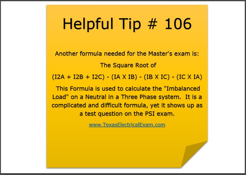 Electrical Exam Prep Tip 106 Calculate The Quot Imbalanced
