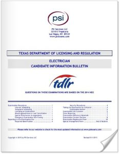 electrician candidate information bulletin for Texas Electricians