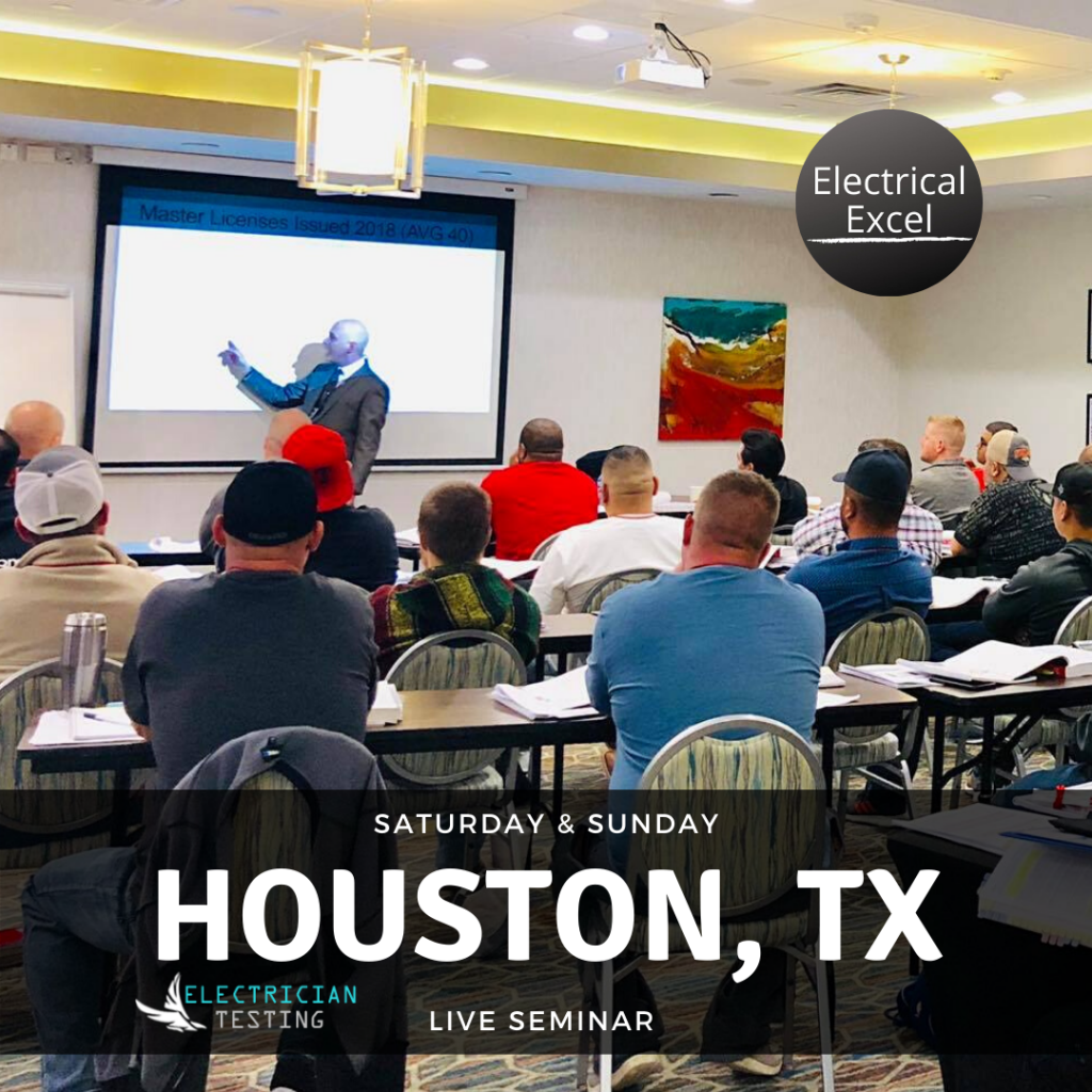 Seminar in Houston TX for the PSI electrical exam