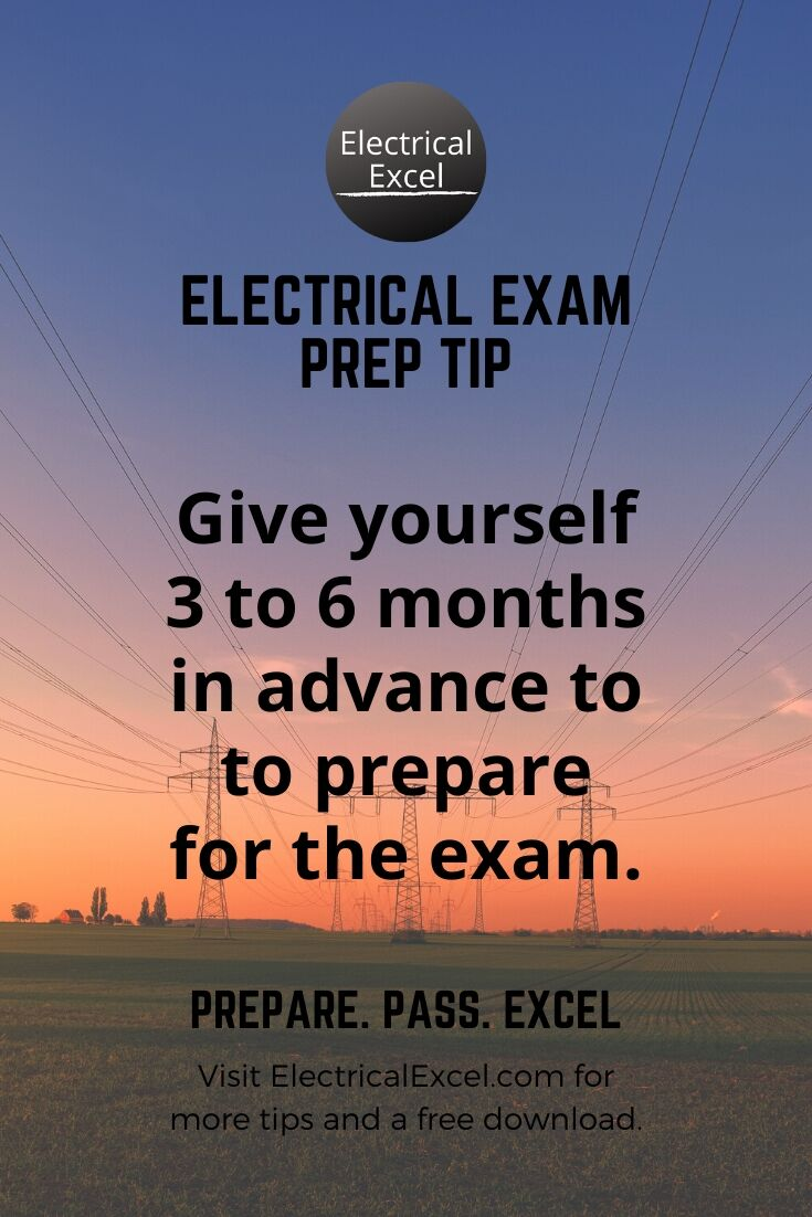 Electrician Exam Schedule